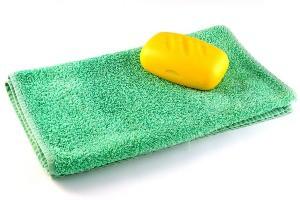 Полотенце и мыло